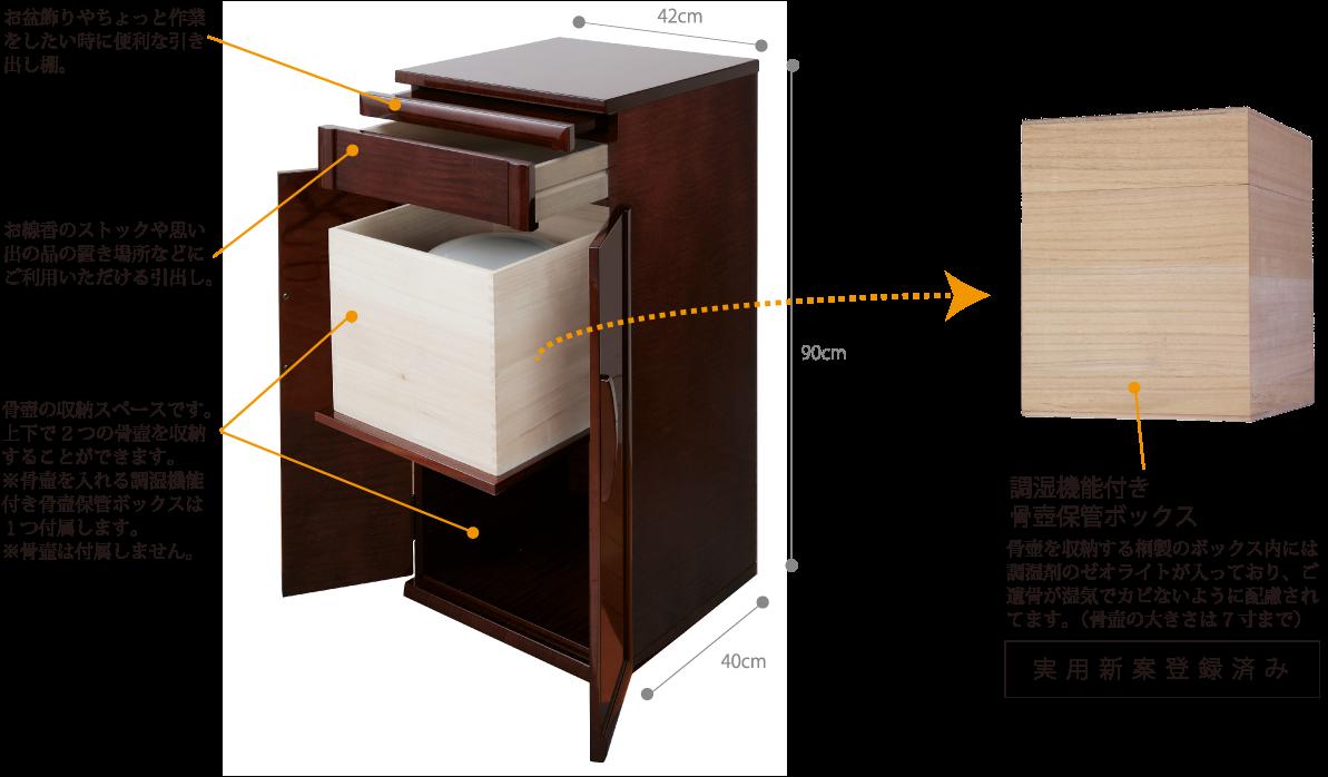 骨壺収納ボックス